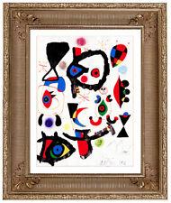 JOAN MIRO - 1952 ORIGINAL HAND SIGNED GOUACHE PAINTING MODERN ABSTRACT ARTWORK