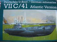 Revell 05045 1:72 DEUTSCHES U-BOOT VII C 41 WWII Atlantic Version L=93,4cm NEU