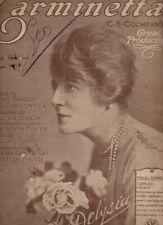 Partition GF anglaise de 1917 chant piano - extr. de Carminetta - DELYSIA