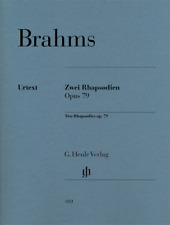 Henle Urtext Brahms Two Rhapsodies Op. 79 Revised
