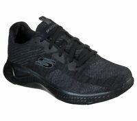 Black Skechers Shoes Men Memory Foam Walk Train Sport Comfort Casual Woven 52758