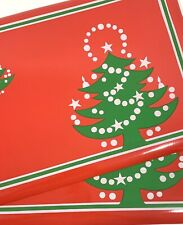 Waechtersbach Christmas Tree Vinyl Placemats Set of Two