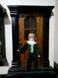 Dolls House Doll - Tudor boy in velvet suit