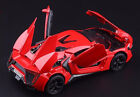 1:32th Scale Alloy Diecast Red Lykan Hypersport w/light&sound Mini Car Model Toy