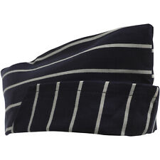 Bakers Professional Navy White Striped Caps 5 10 Pack Cotton Catering Chefs Hats