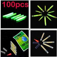 100 x Chemical Light Fishing Fluorescent Glow Stick Night Fishing Squid Lights