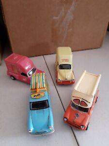 4 x Oxford Diecast 1:43 Ice cream Vans - vgc.
