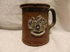 Vintage Yale University Mug Ceramic and Leather Made in England Free S&H