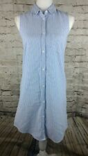 So juniors oxford shirt dress blue and white button down dress size small