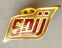 SNJJ Brand Pin Badge Rare Vintage Advertising (F9)