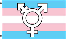 """TRANSGENDER SYMBOL"" flag 3x5 ft rainbow gay lesbian pride LGBTQ"
