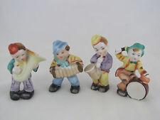 "4 Miniature Children's Band Figures, Multicolor Ceramic, 4"" tall, Occupied Japan"