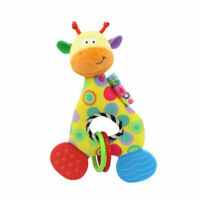 Newborn Infant Baby Soft Plush Toy Lovely Teether Rattle Teething Toy Giraffe