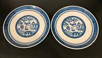 Syracuse China Set Of 2 Rare Patterned Carefree Old Cathay Plates