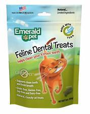 New listing Cat Chews for Teeth Cleaning ,Emerald Pet - Feline Dental Treats, Dental Stick,