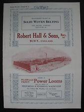 ROBERT HALL & Sons – TEXTILE MACHINERY CATALOGUE No. 4, c.1910