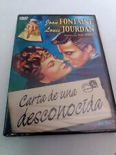 """DVD """"CARTA A UNA DESCONOCIDA"""" PRECINTADO SEALED MAX OPHULS JOAN FONTAINE LOUIS"""