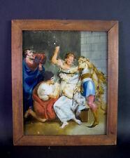 Geiselung Jesu  -  Gemälde /Hinterglasbild 18 Jh  - Augsburg -  Murnau