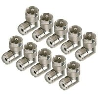 NEW 10 pack UHF male to female right angle elbow RF adapter PL-259 SO-239 10-Lot