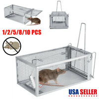 10* Rat Trap Cage Small Live Animal Rodent Mouse Control Catch Hunting Pest Trap