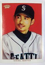 2002 Topps 206 Ichiro Suzuki White Jersey #256, Seattle Mariners, Red Background