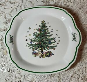 "NIKKO CHRISTMASTIME Round 10"" Christmas Serving Plate Tray BONE CHINA SPODE NEW"
