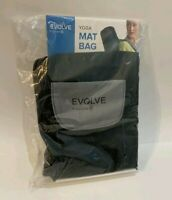 Evolve by Gaiam black yoga mat bag with shoulder strap, pockets, & full zip