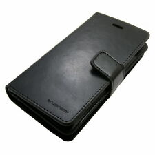Double Flip book Leather Wallet Case Cover Snap fastener For iPhone Galaxy LG