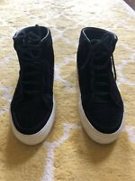 helmut lang -- black high tops with laces -- size 39.5/8