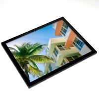 Glass Placemat 20x25 cm - Art Deco Architecture Miami Florida  #12475