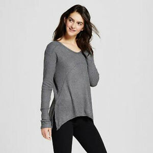 Grayson Threads Women Sleep Lounge LS Knit Top NWT Thundering Gray Heather