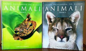 Grande enciclopedia per ragazzi Animali volumi 1 & 2 mammiferi pesci uccelli