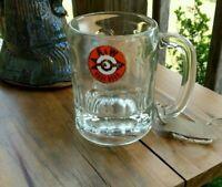 "Vintage A&W Root Beer Glass Mug 4.5"" Tall, Arrow Logo Bullseye 1961-1968 AW"