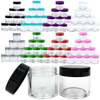 12 High Quality 1oz/30g/30ml Acrylic Plastic Jars Sample Containers BPA FREE