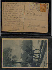 Germany  post  card to  US  postage due       MS0305