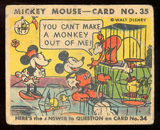 1935 MICKEY MOUSE OPC O PEE CHEE CANADA GUM #35 WALT DISNEY VG CARD NOT TOPPS