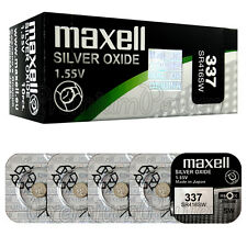 5 x Maxell 337 Silver Oxide batteries 1.55V SR416SW SR416 Watches 0% Mercury