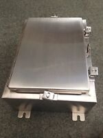 60 day warranty Stainless Steel enclosure louver plate approx 24/'/' x 6/'/'
