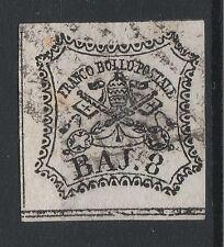FRANCOBOLLI 1852 STATO PONTIFICIO 8 BAJ BIANCO D/5476