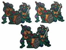 """Teenage Mutant Ninja Turtles Group 3"""" Embroidered Iron On Patch Set of 3 Patches"""