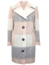 ex M&S Coat Grey Pink Long Jacket 3 Buttons Side Pockets  January Sale Price
