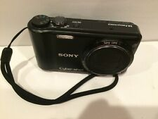Sony Cyber-Shot DSC-H55 14.1 MP 10X Optical Zoom Digital Camera Black TESTED