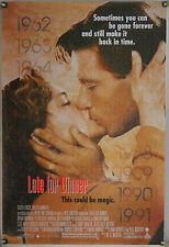 LATE FOR DINNER ROLLED ORIG 1SH MOVIE POSTER BRIAN WIMMER PETER BERG (1991)