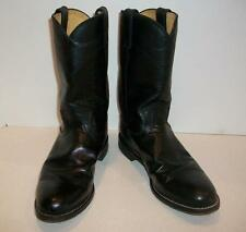 Justin Western Boots Black Leather Cowgirl L3703 Womens Size 8 B