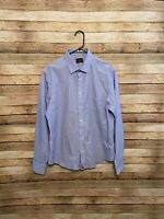 Untuckit Mens Wrinkle Free Chicago Cubs Baseball Blue Button Up LS Shirt Medium