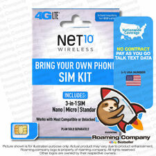 Usa Data Call Text T-Mobile At&T Net10 Wireless Gsm Payg Sim United States 4G Us