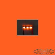 Ledbar cluster Mini LED tipo 1206 con 3 LEDS naranjas modelo ferroviario modellbau