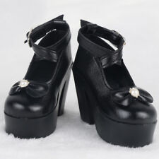 Trendy 1/3 BJD Dolls High Heel Bowknot Shoes Outfit for Dollfie MSD DZ Black