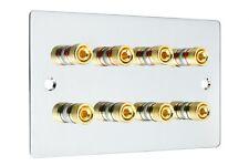 CROMATO LUCIDO 4.0 Surround Sound Audio Altoparlante Piastra Muro GOLD Binding Post