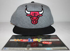 Mitchell & Ness Chicago Bulls Quilted Jordan 4 Cement Grey Snapback Cap Hat New